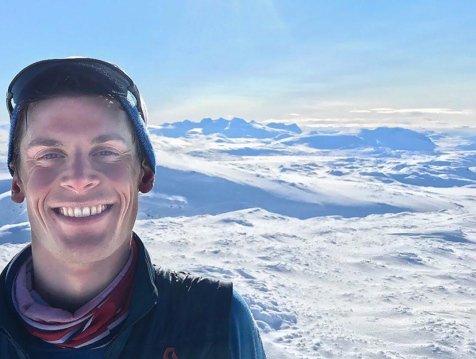Rolf Einar på fjelltopp
