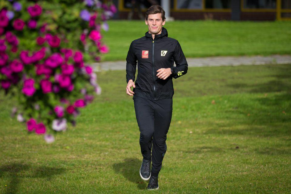 Rolf Einar på løpetur