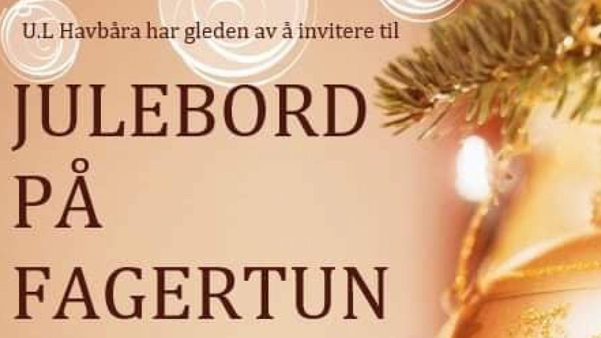 invitasjon til julebort på Fagertun