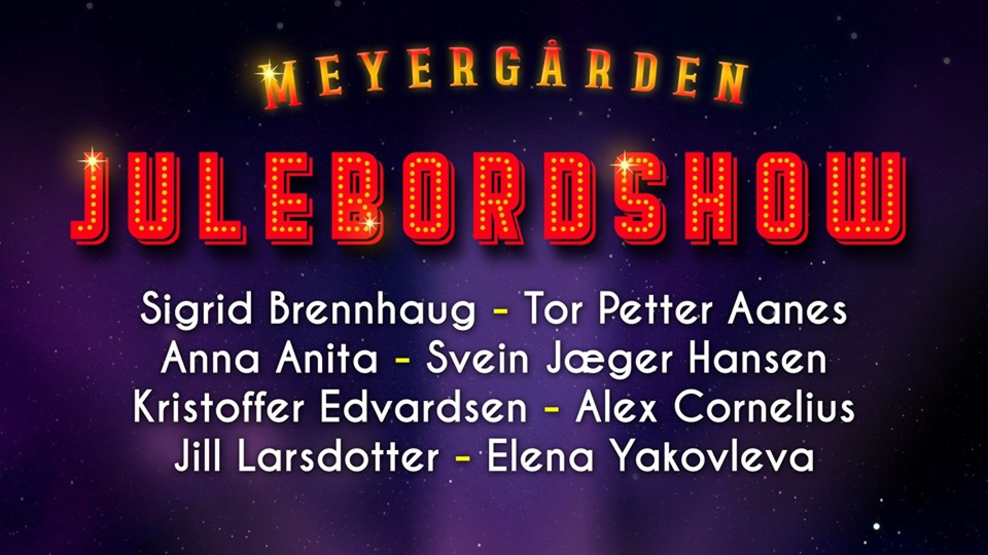 Plakat for julebordshow