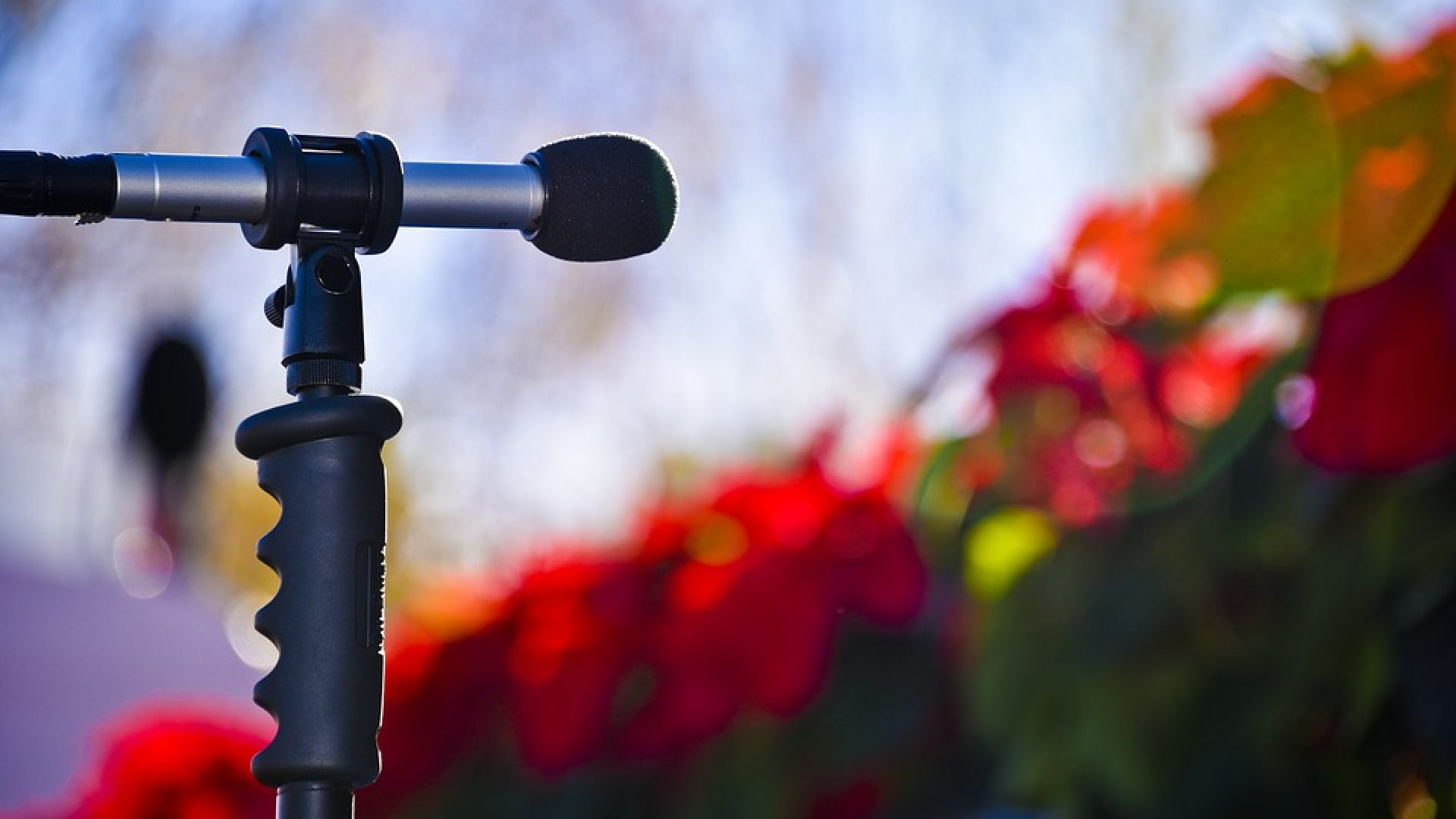 mikrofon og julepynt