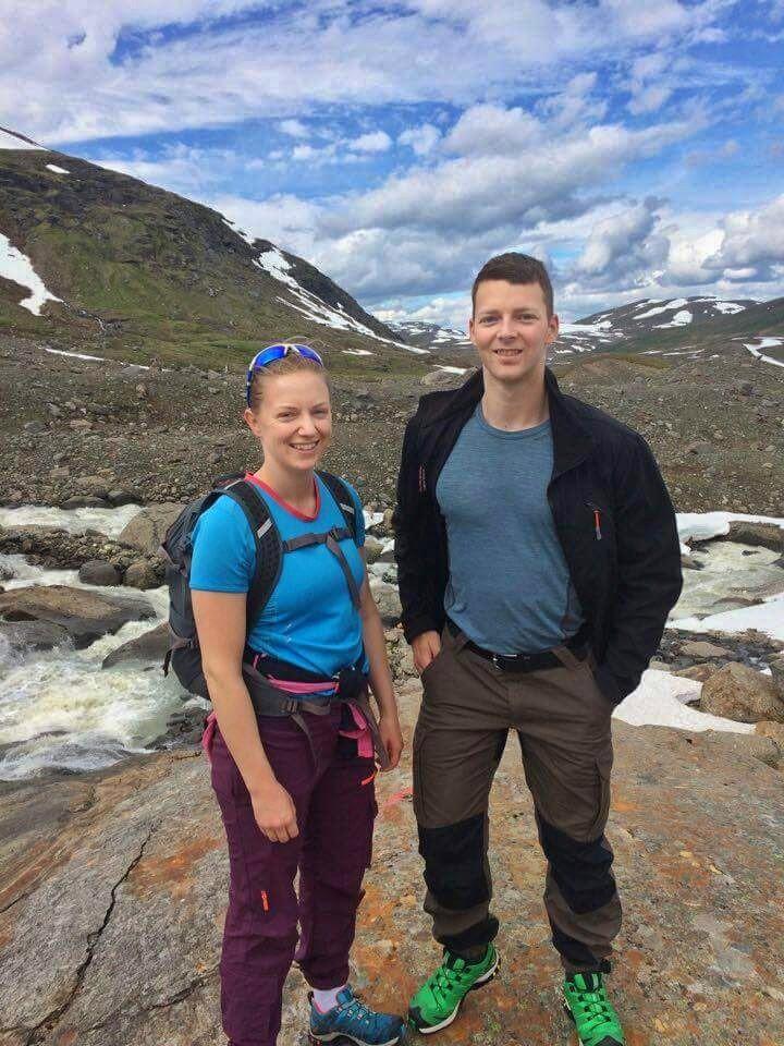 Nina og Georg på fjelltur