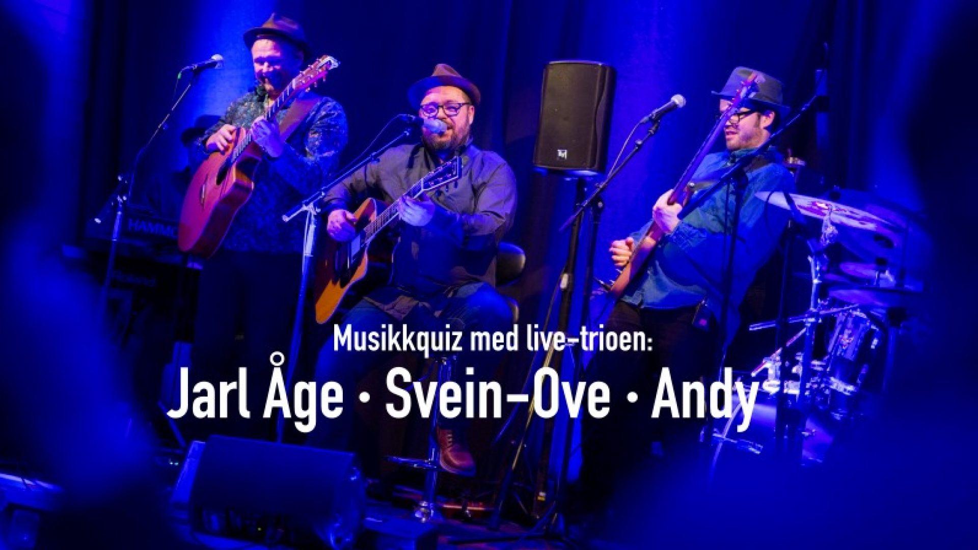 Jarl Åge, Andreas og Svein Ove på scenen