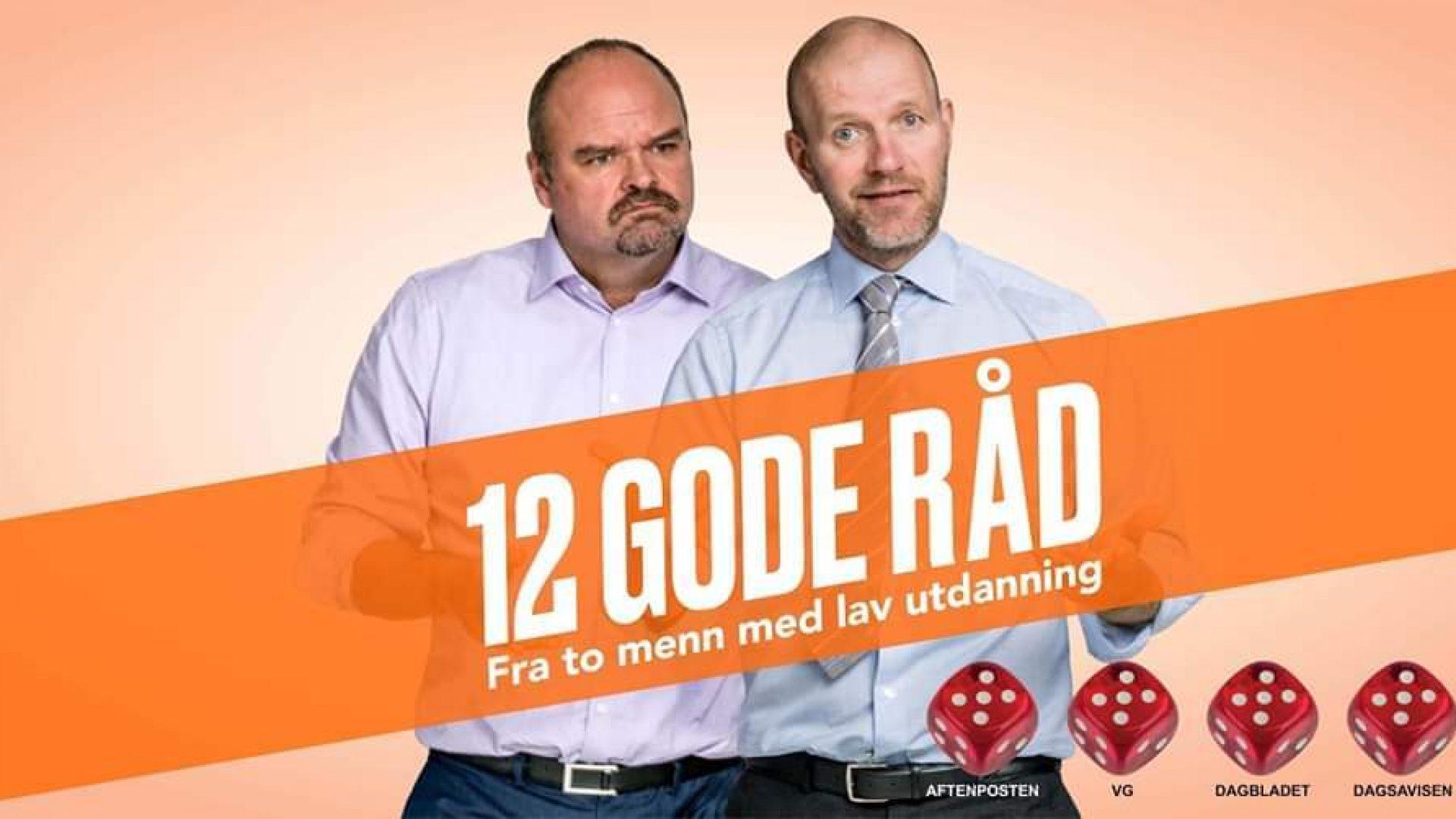 Reklameplakat med Bård Tufte og Atle Antonsen