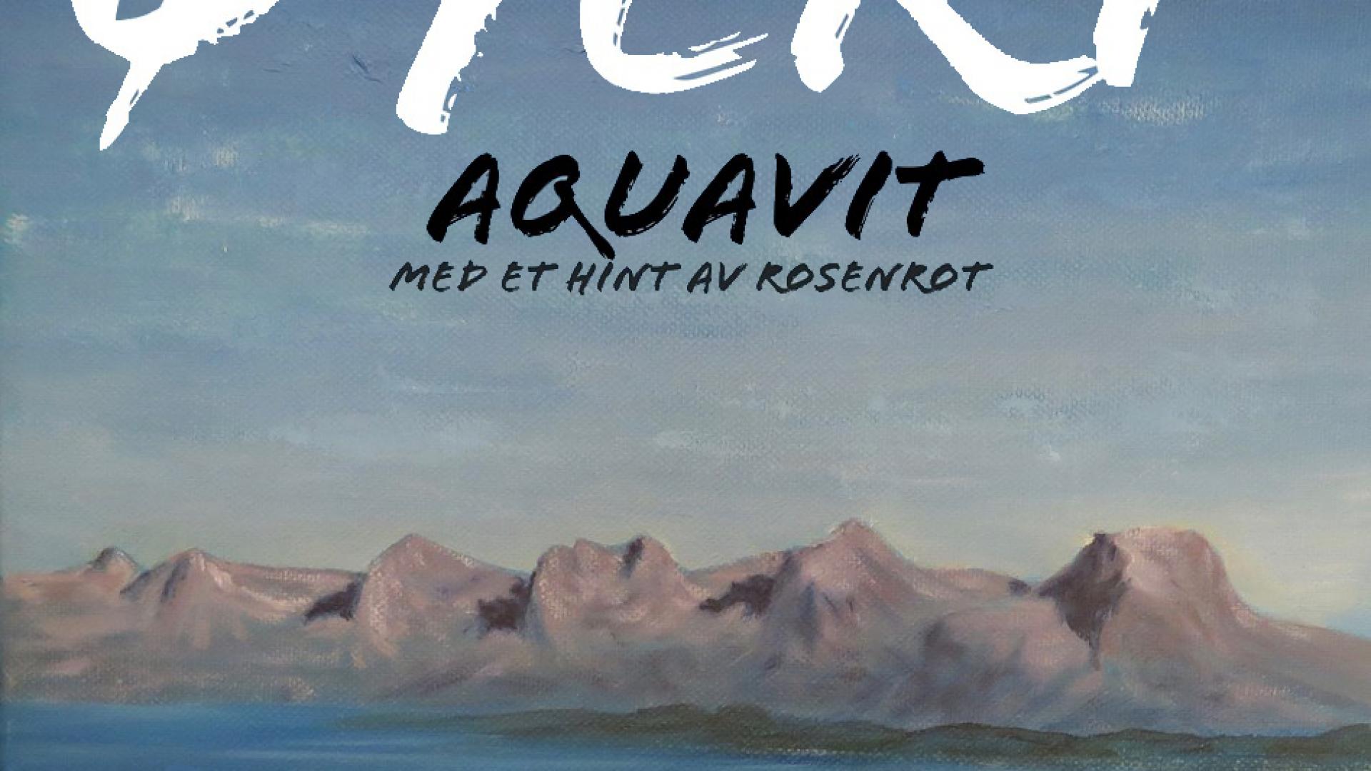 Etikett fra aquavit-flaske