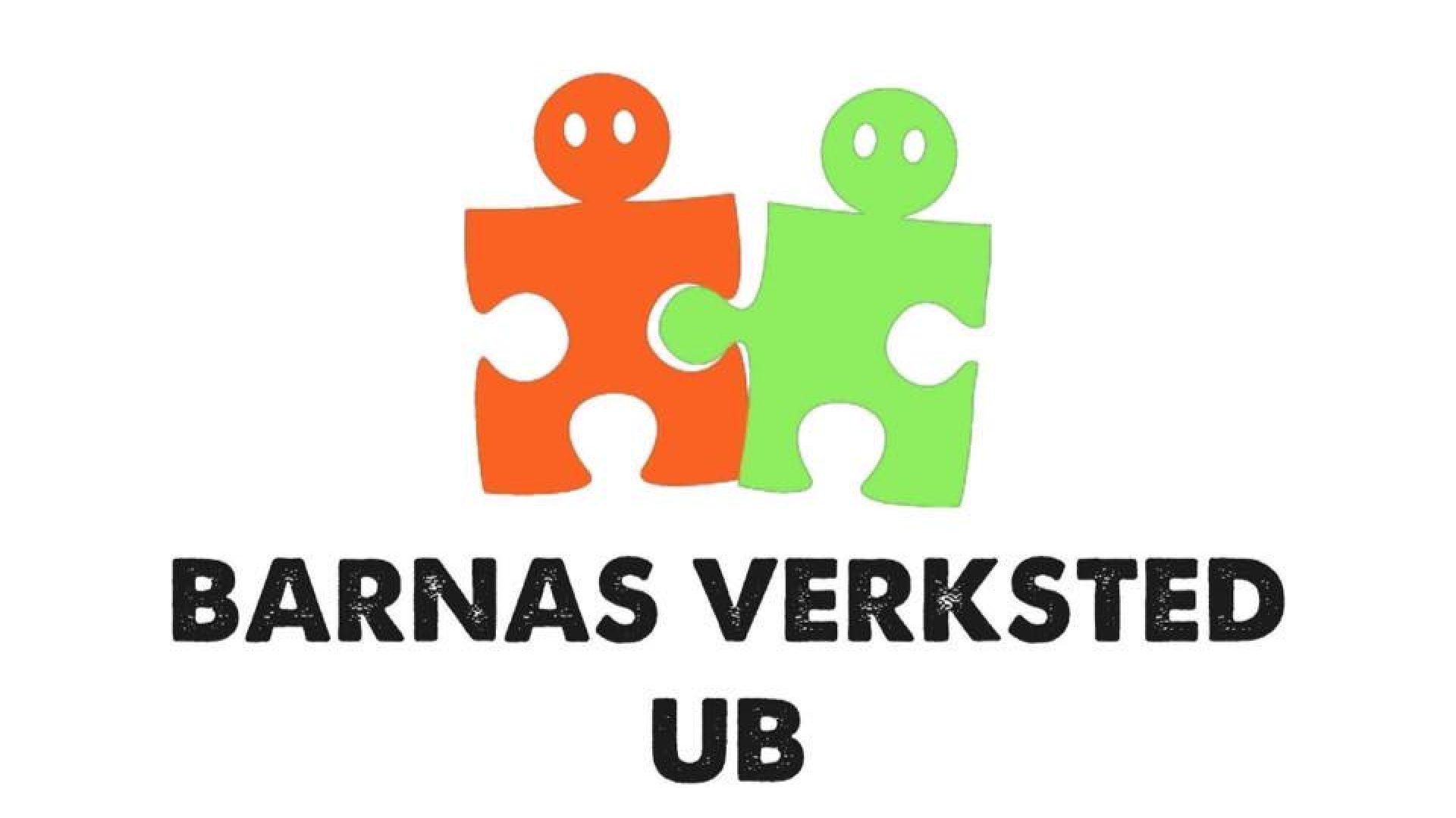 Logo med 2 puslespillbrikker som har øyne