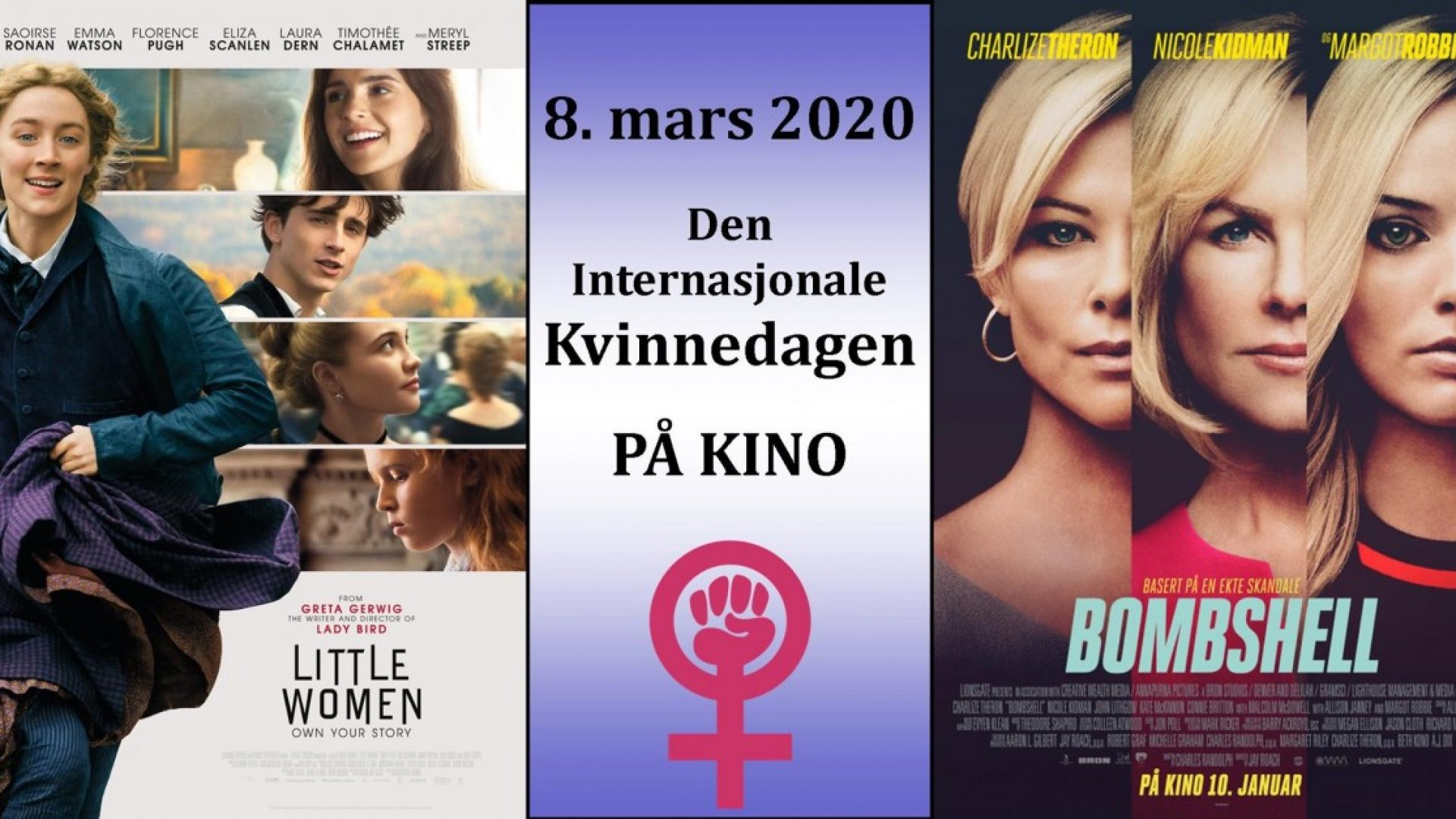 Filmplakater i mange ulike farger