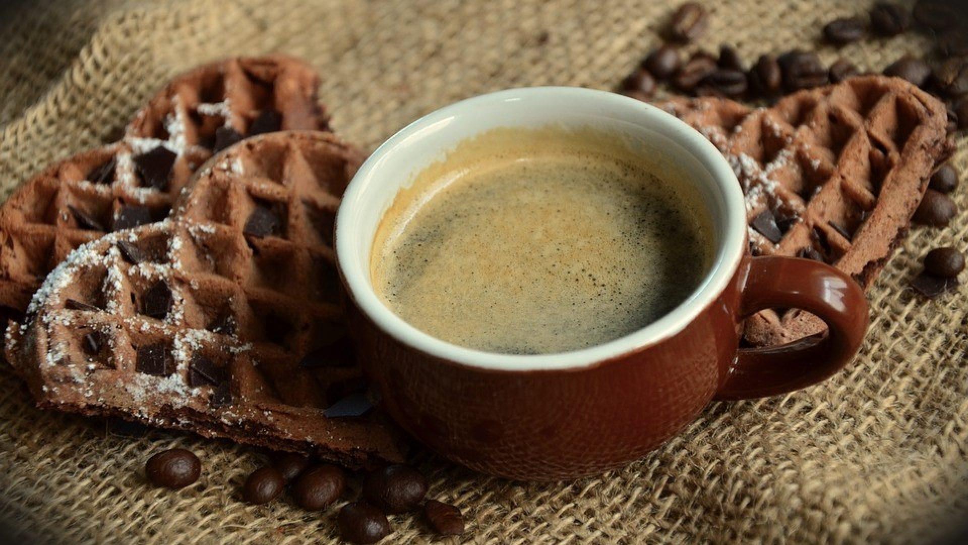 Kaffe og vaffel på Frivillig-kafe på Vega