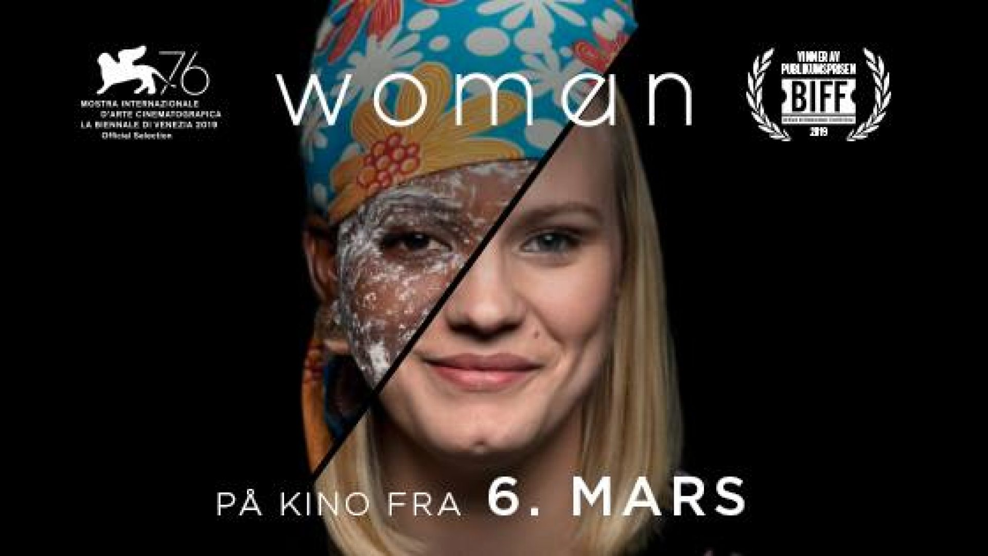 Filmplakat for Woman med premiere 6. mars 2020