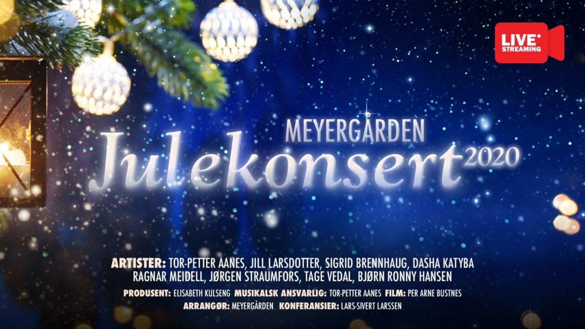 Plakat for Meyergårdens julekonsert