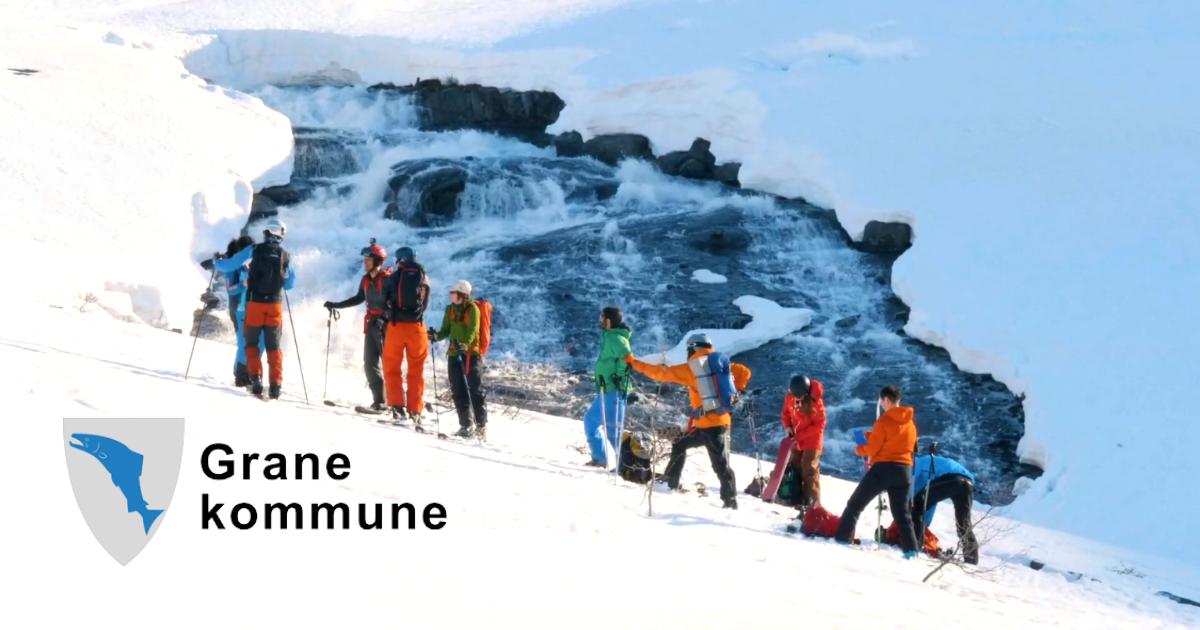 Folk som står på ski