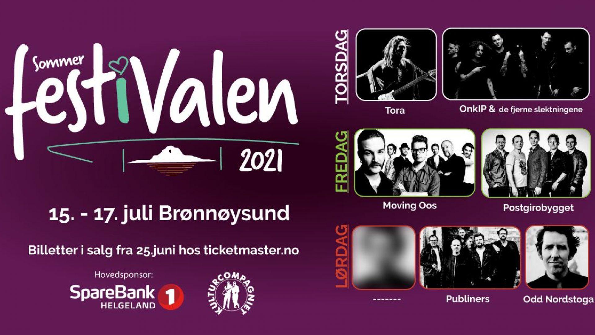 Poster for Sommerfest i Valen i Brønnøysund