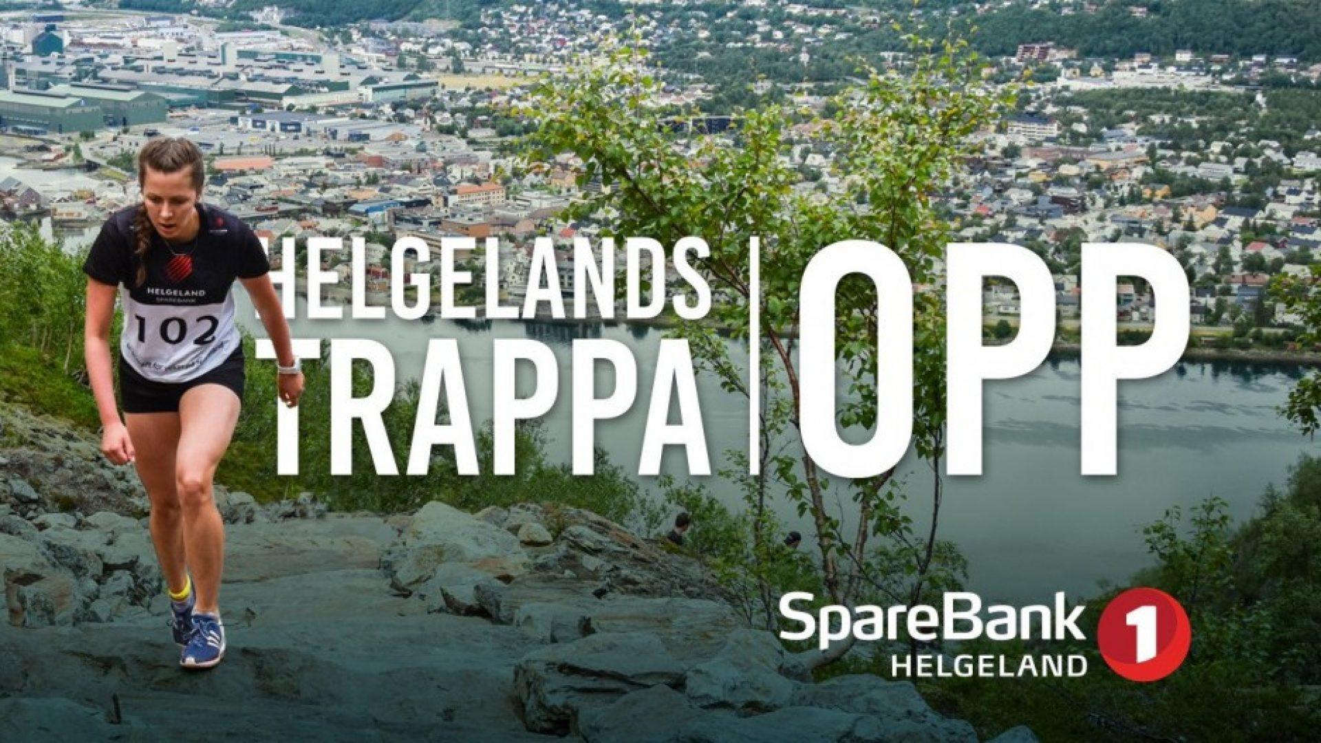Coverbilde av Helgelandstrappa med SpareBank 1 Helgeland logo